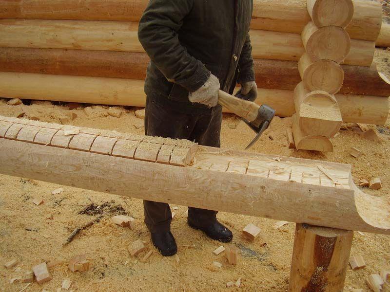 Как сделать сруб из бревен