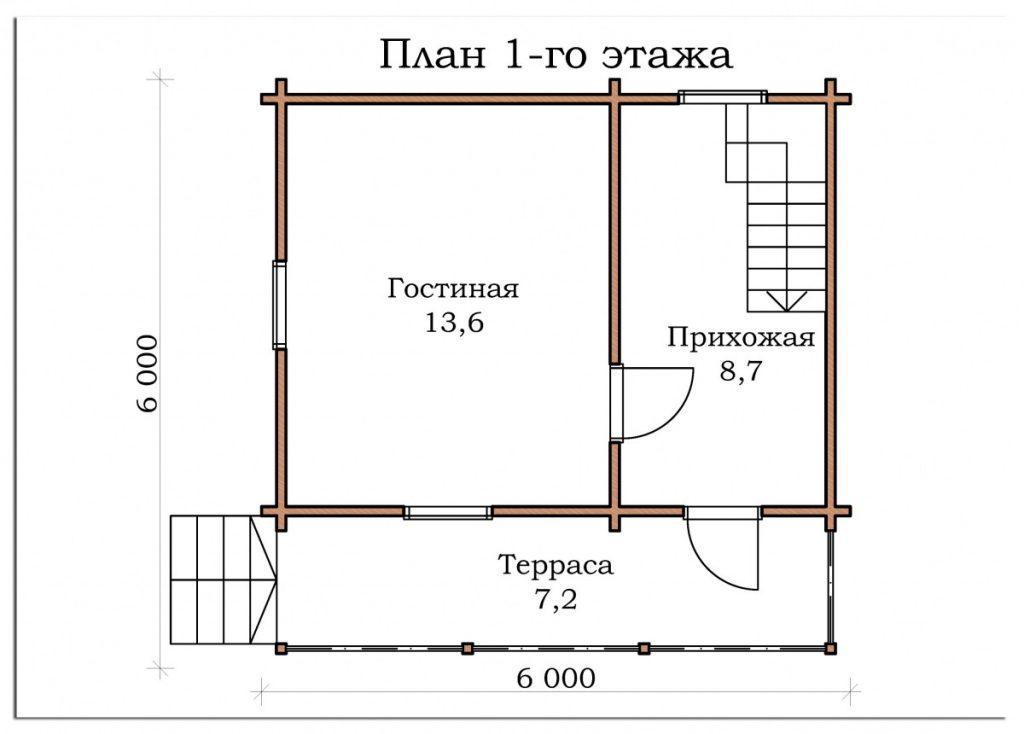 Дачный дом «Малаховка»