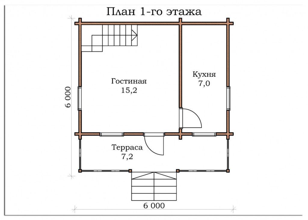 Дачный дом «Лесной»